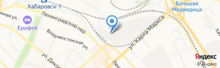 Фактор безопасности на карте Хабаровска
