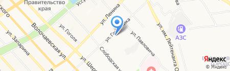 Кедровая падь на карте Хабаровска