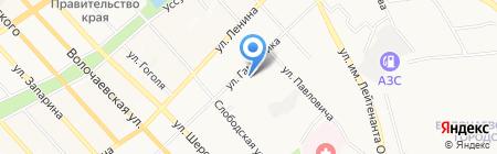 Термия на карте Хабаровска