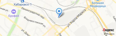 Красный мамонт на карте Хабаровска