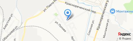 Сеть продовольственных магазинов на карте Хабаровска
