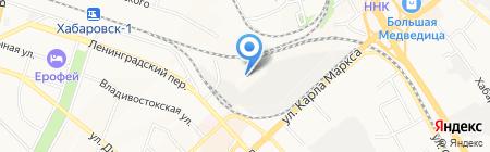 Мега мойка на карте Хабаровска