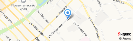 Полимир на карте Хабаровска