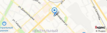 Бука на карте Хабаровска
