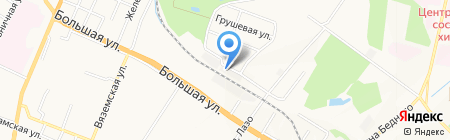 Колесница на карте Хабаровска