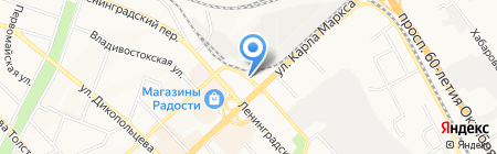 Цветочная лавка на Синельникова на карте Хабаровска