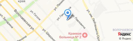 Сервисная служба Три ноля на карте Хабаровска