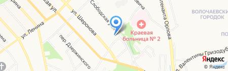 Костер на карте Хабаровска