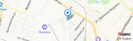 Огородник на карте Хабаровска
