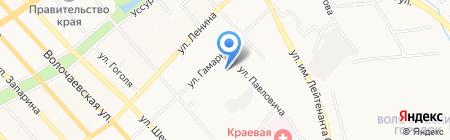 Аскона на карте Хабаровска