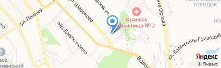 Рычаг на карте Хабаровска