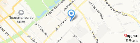 Психо-наркологический диспансер №1 на карте Хабаровска