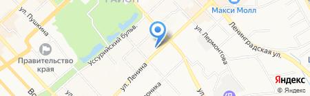Алькад на карте Хабаровска
