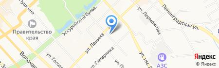Град-Парад на карте Хабаровска