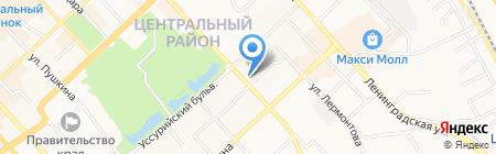Хамелеон на карте Хабаровска