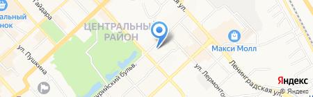Трансаэро на карте Хабаровска