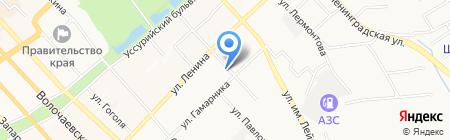 Орфей на карте Хабаровска