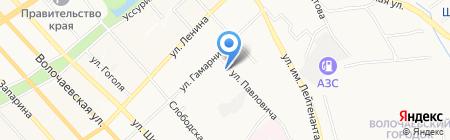 Примсоцбанк на карте Хабаровска