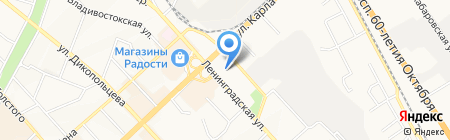 Детский сад №145 на карте Хабаровска