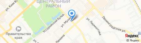 Бригантина на карте Хабаровска