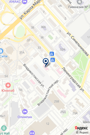ЖК Ленинградский на карте Хабаровска