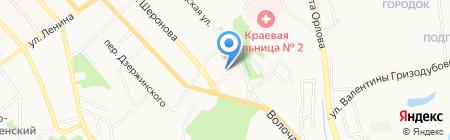 Дендрарий на карте Хабаровска