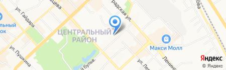 Платинум Арена на карте Хабаровска