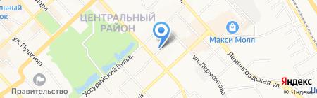 Салон автопроката на карте Хабаровска