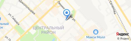 Автомойка в Студенческом переулке на карте Хабаровска