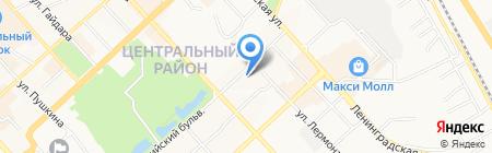 Хабаровская генерация на карте Хабаровска
