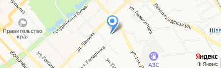 Данс на карте Хабаровска
