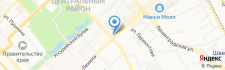 Банкомат Дальневосточный банк Сбербанка России на карте Хабаровска