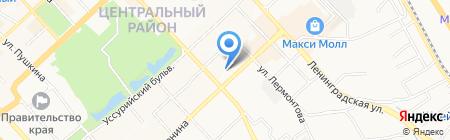 ДВТРК на карте Хабаровска