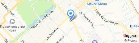 Управление восточного регионального командования внутренних войск МВД России на карте Хабаровска