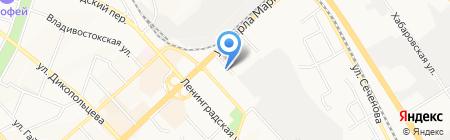 Стройка на карте Хабаровска