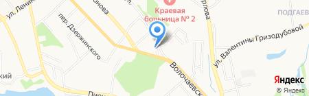 Райтон на карте Хабаровска