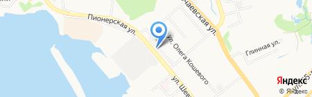 Автотакси на карте Хабаровска