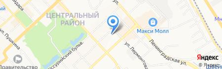 Спортлото на карте Хабаровска