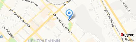 Кариатида на карте Хабаровска