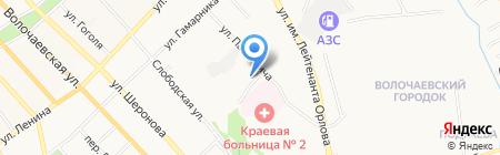 Агат на карте Хабаровска