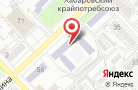 Схема проезда до компании Мегаполис в Хабаровске