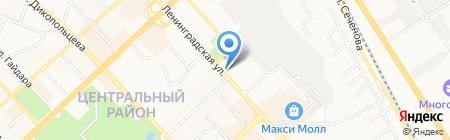 Шиномонтажная мастерская на Ленинградской на карте Хабаровска