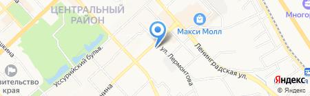 Марка ФГУП на карте Хабаровска