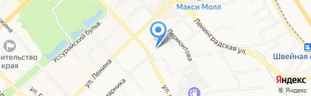 Бизнес-класс на карте Хабаровска