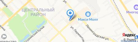 Монэ на карте Хабаровска