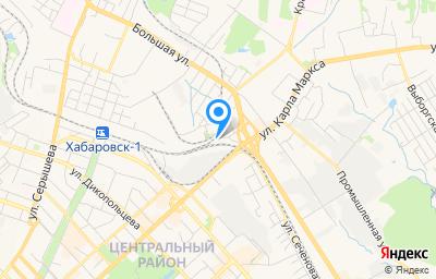 Местоположение на карте пункта техосмотра по адресу г Хабаровск, ул Чернореченская, д 58