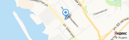 Баярд на карте Хабаровска