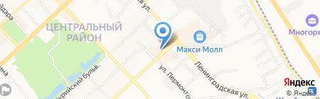 Ногтюрн на карте Хабаровска