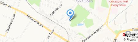 Горзеленстрой на карте Хабаровска