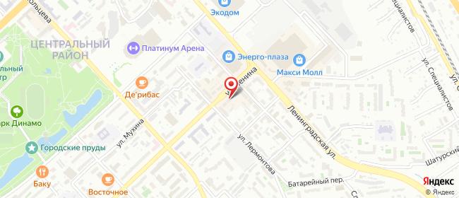 Карта расположения пункта доставки На Ленина в городе Хабаровск